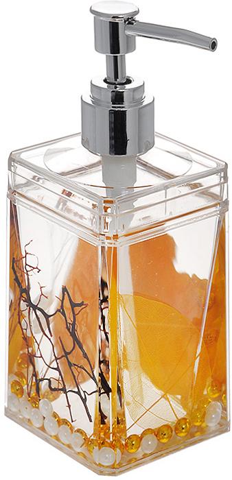Дозатор для жидкого мыла Gold Leaf диспенсер для жидкого мыла axentia vanja 17 х 7 5 х 7 5 см