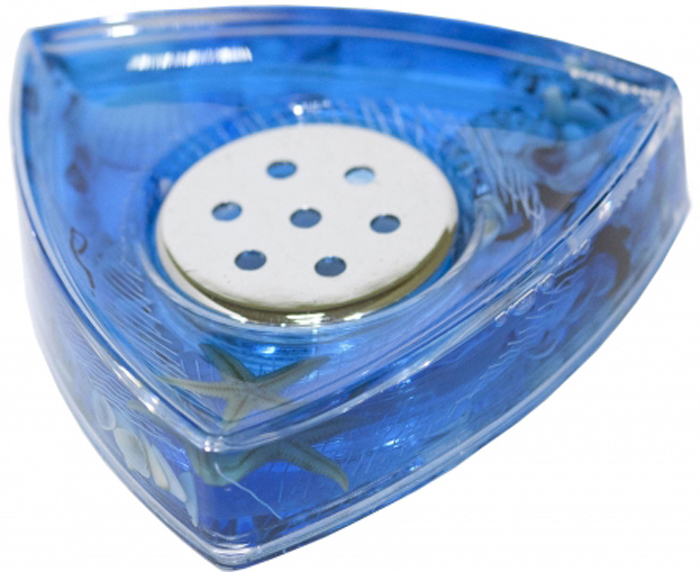 """Оригинальная мыльница """"Seastar Blue"""", изготовленная из прозрачного пластика, отлично подойдет для вашей ванной комнаты. Внутри мыльницы находится синий гелевый наполнитель с маленькими ракушками, морской звездой и белой сеткой.  Мыльница """"Seastar Blue"""" создаст особую атмосферу уюта и максимального комфорта в ванной. Характеристики:  Материал: пластик, акрил, гелевый наполнитель. Цвет: синий, белый, желтый. Размер мыльницы: 11 см х 10,5 см х 2,5 см. Производитель: Швеция. Изготовитель: Китай. Размер упаковки: 11,5 см х 11,5 см х 3 см. Артикул: 887-37."""