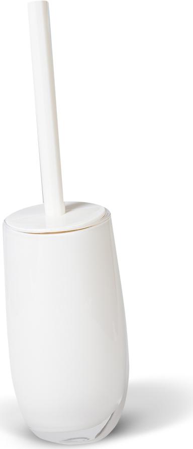Гарнитур для туалета Immanuel Repose White, цвет: белый. 12233282461Гарнитур для туалета Immanuel Repose White включает в себя ершик и подставку. Ершик с жестким ворсом имеет удобную ручку, которая выполнена из белого пластика. Подставка изготовлена из акрила с пластиковой емкостью внутри. Ершик полностью вставляется в подставку и закрывается крышкой, что обеспечит гигиеничность использования и облегчит уход.Ершик отлично чистит поверхность, а грязь с него легко смывается водой. Характеристики:Материал:акрил, пластик. Цвет: белый. Длина ершика: 33 см. Длина ворса: 1,5 см. Диаметр подставки для ершика по верхнему краю: 8,5 см. Высота подставки: 18,5 см. Артикул: 12233.