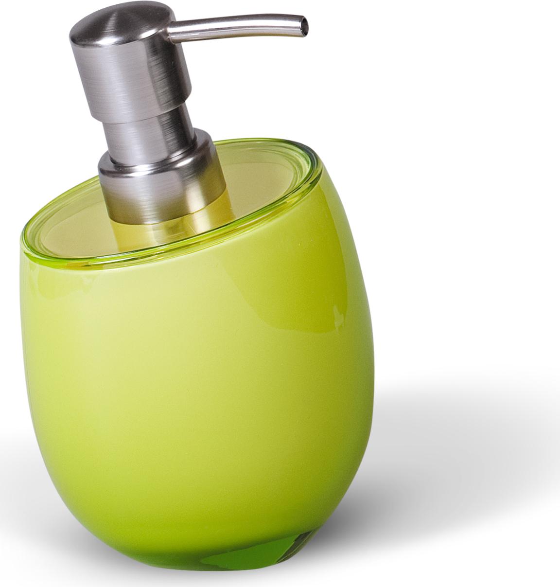 Дозатор для жидкого мыла Immanuel Repose Green, цвет: салатовый. 1232512325Дозатор для жидкого мыла Immanuel Repose Green изготовлен из акрила салатового цвета. Такой аксессуар очень удобен в использовании: достаточно лишь перелить жидкое мыло в дозатор, а когда необходимо использование мыла, легким нажатием выдавить нужное количество.Дозатор Immanuel Repose Green станет стильным аксессуаром, который украсит интерьер ванной комнаты. Характеристики: Материал: акрил, пластик. Цвет: салатовый. Размер дозатора по верхнему краю: 9 см х 7,5 см. Высота дозатора: 15 см. Артикул: 12325.