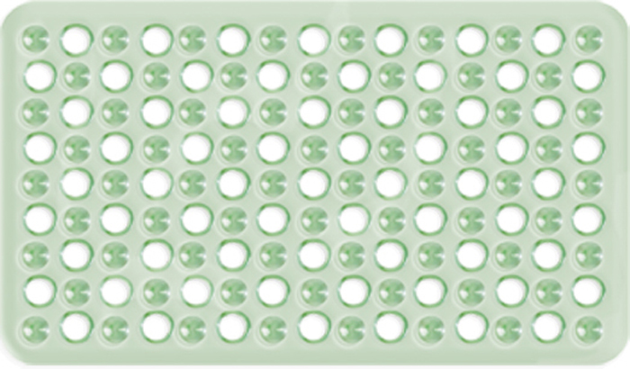 Коврик для ванны Tatkraft Leman, цвет: зеленый, 59 х 37 см roxy kids антискользящий коврик для ванны цвет желтый 34 см х 74 см
