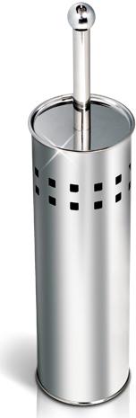 """Гарнитур для туалета Tatkraft """"Shuttle"""" включает в себя подставку для ершика цилиндрической формы и сам ершик. Пластиковый ершик белого цвета оснащен жестким ворсом из акрила. Подставка, изготовленная из долговечной нержавеющей стали, обеспечит гигиеничное хранение и облегчит уход.   Ершик отлично чистит поверхность, а грязь с него легко смывается водой. Характеристики:  Материал:  нержавеющая сталь, пластик. Общая высота гарнитура: 40 см. Диаметр подставки: 10 см. Длина ершика: 34 см. Размер упаковки:  28 м х 10 см х 10 см. Артикул: 11335."""