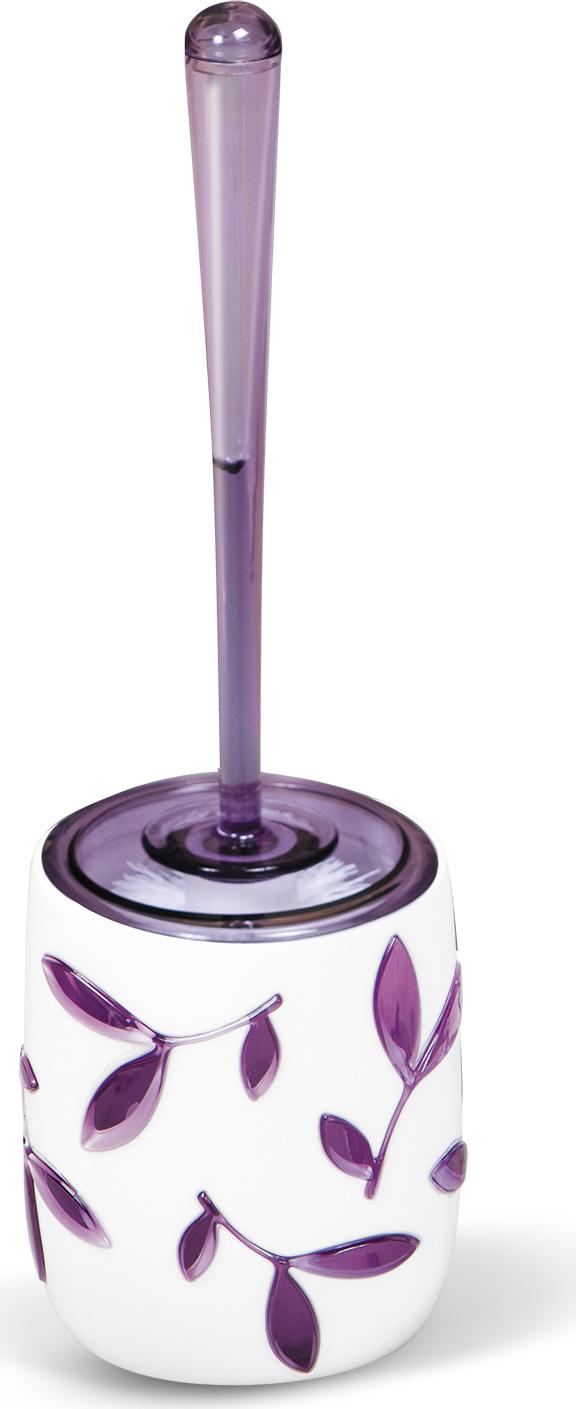 """Гарнитур для туалета Tatkraft """"Immanuel Olive Violet""""- это необходимая вещь в каждом доме. Чаша с устойчивым основанием не позволяет жидкости пролиться. Большая круглая моющая часть ершика, выполненная из прочных полимерных волокон, позволяет легко чистить поверхность. Характеристики: Материал:  акрил, пластик. Размер гарнитура:  32 см х 7 см х 7 см. Длина ручки:  22 см. Диаметр подставки:  10 см. Высота подставки:  12,5 см. Размер упаковки:  36 см х 10 см х 10 см."""