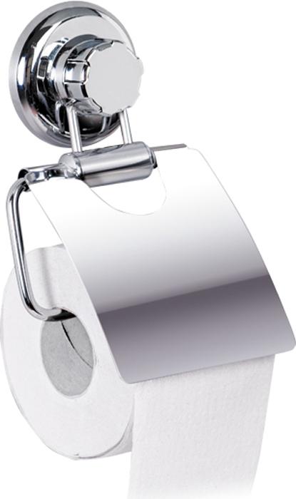 Держатель для туалетной бумаги настенный Tatkraft Mega Lock, 13 см х 3 см х 19 см полка для ванной комнаты tatkraft mega lock цвет серый металлик 38 x 14 x 6 см