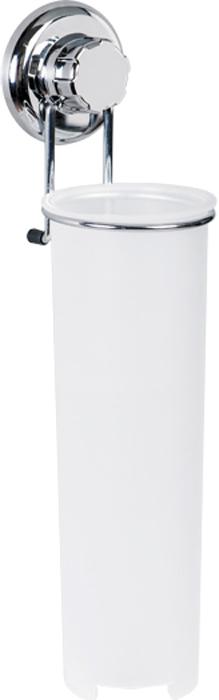 Держатель для ватных дисков Tatkraft Mega Lock, высота 34,5 см полка для ванной комнаты tatkraft mega lock цвет серый металлик 38 x 14 x 6 см