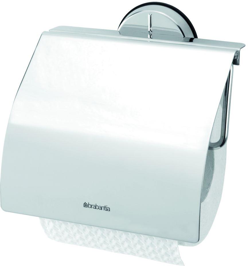 Держатель для туалетной бумаги Brabantia Profile, цвет: стальной полированный. 427602427602Устойчивость к коррозии – идеальное решение для ванной или туалетной комнаты.Держатель для рулона может крепиться как с правой, так и с левой стороны.Изготовлен из высококачественной нержавеющей стали с коррозионностойким покрытием или из хромированной стали.Крепежная пластина из пластика.Превосходно сочетается с туалетным ершиком, мусорными баками и другими изделиями Brabantia.