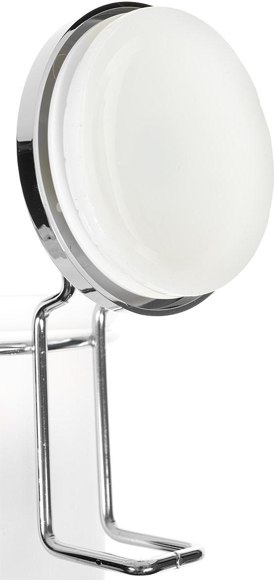 """Гарнитур для туалета Tatkraft """"Wild Power"""" включает ершик и хромированную  металлическую подставку на присоске. Запатентованная вакуумная система  позволяет быстро и надежно прикрепить подставку к стене. Ершик имеет  жесткий ворс, который эффективно очищает туалет от загрязнений. Разборная  ручка выполнена из пластика.  Такой гарнитур для туалета станет практичным и функциональным приобретением  для хозяйства. Кроме того, для установки не нужно никаких инструментов, что  является неоспоримым преимуществом.  Длина ершика (с ручкой): 33 см.  Длина ворса: 3 см.  Размер подставки: 13 х 10 х 19 см."""