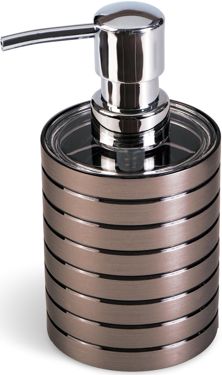 Дозатор для жидкого мыла Tatkraft King Tower Bronze, цвет: коричневый12561Дозатор для жидкого мыла King Tower изготовлен из коричневого акрила с серебристыми вставками. Такой аксессуар очень удобен в использовании: достаточно лишь перелить жидкое мыло в дозатор, а когда необходимо использование мыла, легким нажатием выдавить нужное количество.Дозатор King Tower станет стильным аксессуаром, который украсит интерьер ванной комнаты. Характеристики: Материал: акрил, пластик. Диаметр дозатора: 7,5 см. Высота дозатора: 15 см.