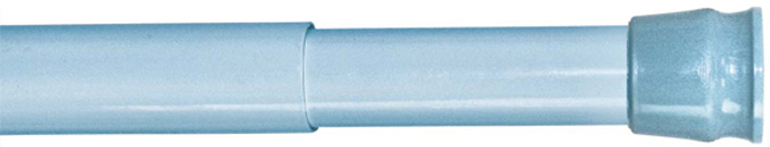 Карниз для ванной комнаты Milardo, цвет: голубой, 110-200 см011A200M14Материал: алюминий, АВС пластик