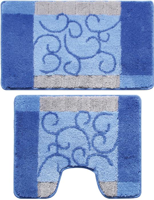 """Набор Milardo """"Fine Lace"""" включает два коврика для ванной комнаты: прямоугольный и с вырезом. Коврики изготовлены из полиэстера и акрила. Это экологически чистый, быстросохнущий, мягкий и износостойкий материал. Красители устойчивы, поэтому рисунок не потеряет цвет даже после многократных стирок в стиральной машине. Благодаря латексной основе коврики не скользят на полу. Края изделий обработаны оверлоком. Можно использовать на полу с подогревом. Рекомендации по уходу:- Разрешена стирка в стиральной машине при температуре 40°С при щадящем режиме отжима. - Нельзя гладить. - Нельзя отбеливать. - Химчистка запрещена."""