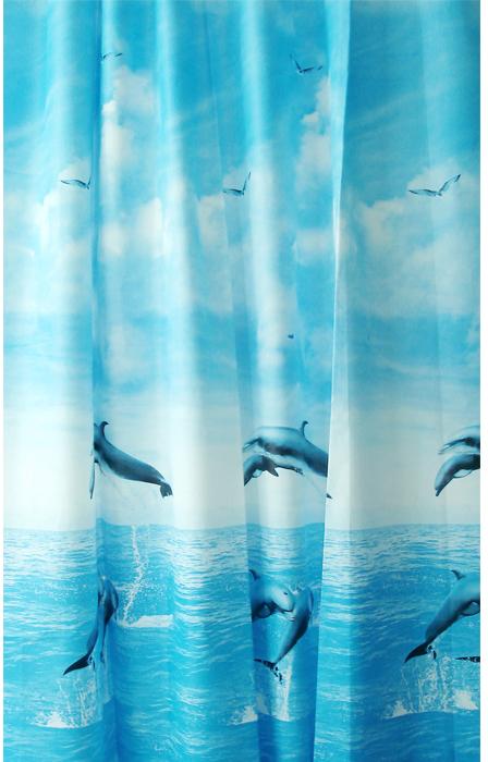 Штора для ванной комнаты Milardo Dolphins, 180 х 180 см 519V180M11519V180M11Штора для ванной комнаты Milardo, изготовлена из PEVA - водонепроницаемого, прочного эластичного материала, без запаха. Штора декорирована изображением дельфинов. Штора быстро сохнет, легко моется (протирать мягкой тканью, смоченной в мыльном растворе) и обладает повышенной износостойкостью, устойчивым красителям и эластичным свойствам. Вверху предусмотрены металлические люверсы. В комплекте также имеется 12 пластиковых колец. Штора для ванной Milardo порадует вас своим ярким дизайном и добавит уюта в ванную комнату. Нельзя стирать в стиральной машинке. Нельзя гладить.