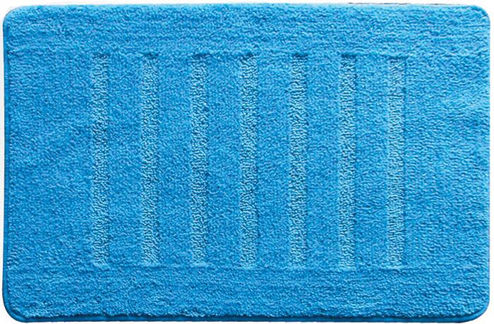 Коврик для ванной комнаты Milardo Blue Lines, 50 см х 80 см. MMI182M milardo amur amusb00m01
