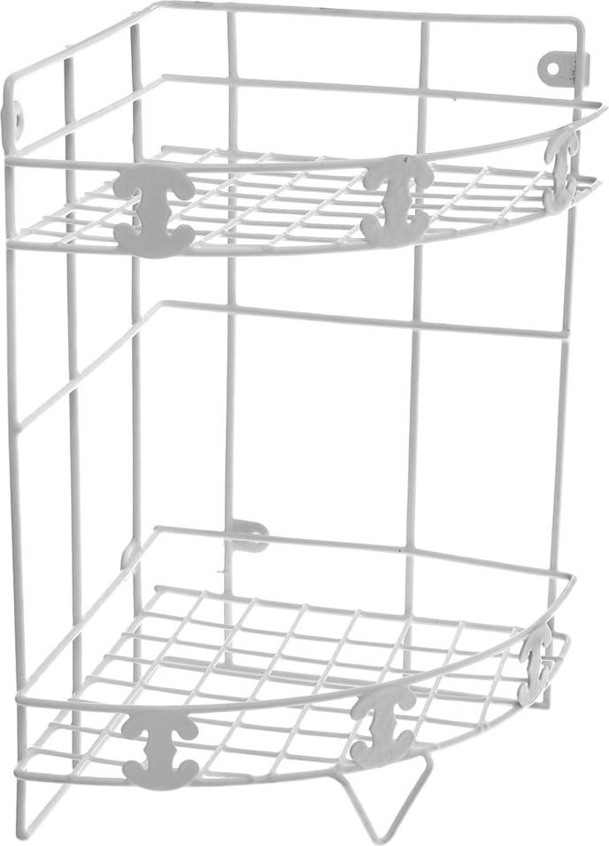 Полка угловая Доляна, 2-х ярусная, высота 32 см131425Полка Доляна выполнена из высококачественного металла и предназначена для хранения вещей в ванной комнате. Полка угловая и состоит из 2-х ярусов одинакового размера с бортиком по краю. Она пригодится для хранения различных предметов, которые всегда будут под рукой.Благодаря компактным размерам полка впишется в интерьер вашего дома и позволит вам удобно и практично хранить предметы домашнего обихода.Удобная и практичная металлическая полочка станет незаменимым аксессуаром в вашем хозяйстве. Высота полки: 32 см.Размер яруса: 20 см х 20 см.Расстояние между ярусами: 21,5 см.