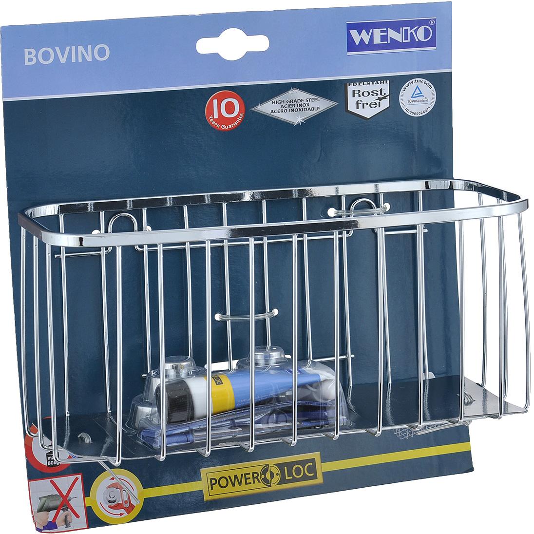 Полка Wenko Bovino для ванной комнаты. 17796100 wenko подушка для ванны tropic зеленый tmybw r v