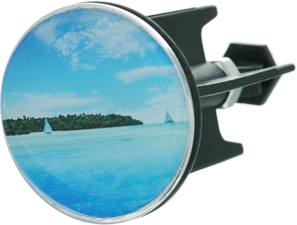Пробка для раковины Wenko Island, диаметр 4 см wenko подушка для ванны tropic зеленый tmybw r v