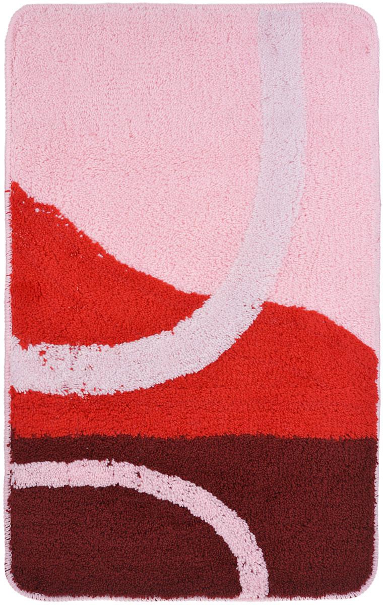 Коврик для ванной комнаты Fresh Code, цвет: розовый, 80 х 50 смxx005-13Коврик для ванной Fresh Code изготовлен из 100% акрила с латексной основой. Коврик, украшенный ярким цветным рисунком, создаст уют и комфорт в ванной комнате. Длинный ворс мягко соприкасается с кожей стоп, вызывая только приятные ощущения.Рекомендации по уходу:- стирать в ручном режиме,- не использовать отбеливатели,- не гладить, - не подходит для сухой чистки (химчистки).