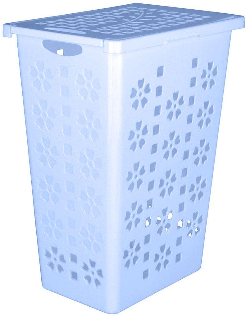 Корзина для белья Альтернатива Виолетта, цвет: голубой, 30 лМ2254Легкая и удобная корзина Альтернатива Виолетта прямоугольной формы, изготовлена из пластика. Она отлично подойдет для хранения белья перед стиркой. Корзина, декорированная небольшими отверстиями в форме цветов и квадратиков, скрывает содержимое корзины от посторонних. Отверстия создают идеальные условия для проветривания. Изделие оснащено крышкой и отверстием для переноски корзины.Такая корзина для белья прекрасно впишется в интерьер ванной комнаты. Объем: 30 л.Размер корзины: 36,5 см х 25 см х 48 см.