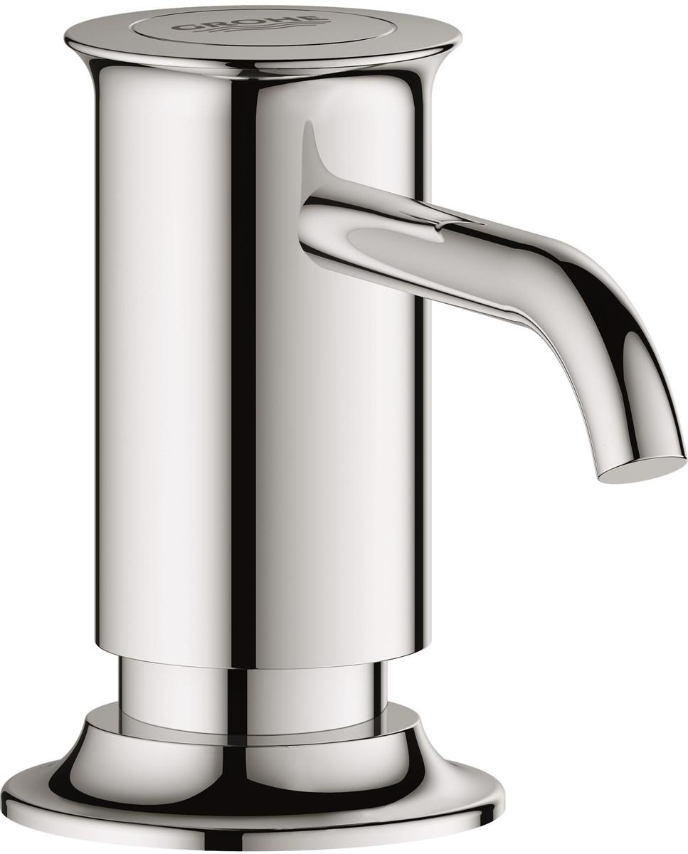 """Дозатор для жидкого мыла Grohe """"Authentic"""" идеален для современных ванных  комнат, его геометрические формы и чистые линии играют ключевую роль. В  серии Authentic вы сможете найти несколько смесителей для ванной и кухни,  но также вы сможете найти много аксессуаров, которые смогут внести последний  штрих в дизайн ванной."""