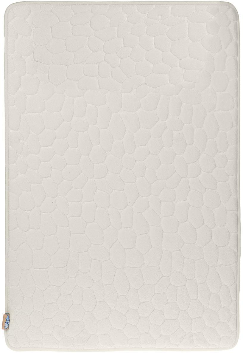 Коврик для ванной White Fox Камушки, цвет: бежевый, 50 х 70 см коврик напольный white fox whmc24 227 joy comfort