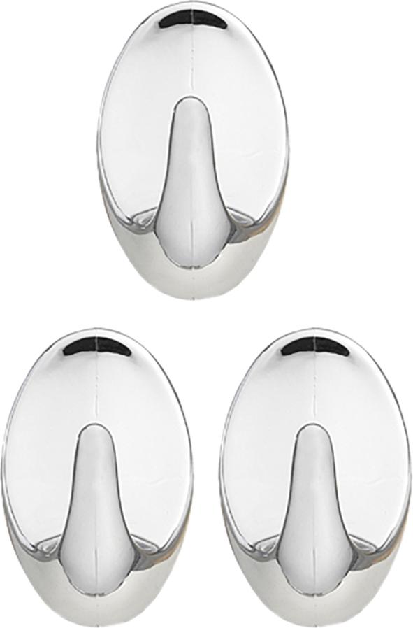 """Крючок самоклеящийся Tatkraft """"Sven"""" изготовлен из хромированного пластика. Крючок может быть установлен только на ровной воздухонепроницаемой поверхности: плитка, стекло, пластик, металл, ламинированное дерево и другие. Крючок является многоразовым, что позволяет перевесить его в любое удобное место. В комплекте 3 крючка.  Размер крючка: 5 см х 3 см х 1,5 см."""