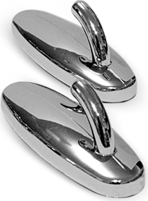 Набор крючков самоклеящихся Tatkraft Anders, цвет: серебряный, 2 шт11786Хромированные крючки Tatkraft Anders изготовлены из пластика. Крючки идеально подойдут для помещений с повышенной влажностью. Они легко крепятся к поверхности при помощи липкого слоя. Теперь, чтобы прикрепить крючок не нужно делать лишние дырки в стене, достаточно выбрать место и приклеить его. Оригинальный крючок Tatkraft Anders выдерживает вес до 5 кг. Размер крючка: 6 см х 3 см х 2 см.