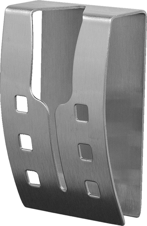 """Хромированная самоклеящаяся вешалка для полотенец Tatkraft """"Emma"""", изготовлена из нержавеющей стали. Вешалка с современным дизайном не боится влаги, и очень легко крепится к стене. Чтобы зафиксировать вешалку, не нужно сверлить дырки, достаточно снять защитный слой и прочно прижать вешалку к стене. Крепкая, оригинальная вешалка выдерживает вес до 5 кг.  Размер вешалки: 5 см х 7,5 см х 2 см.  Максимальная нагрузка: 5 кг."""