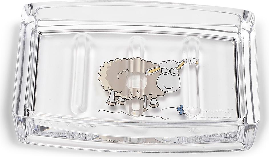 Мыльница Tatkraft Acryl Funny Sheep19102Оригинальная мыльница Tatkraft Acryl Funny Sheep выполнена из акрила иоформлена изображением забавной овечки. Мыльница отличается легкостью икомпактностью, при этом она устойчива. Основные преимущества акрила: - абсолютно ровная поверхность как у стекла (бактерии на поверхности не размножаются), -теплый, приятный на ощупь (теплопроводность соответствует человеческому телу), - надолго сохраняет форму и цвет (не сохнет и не желтеет). Мыльница Tatkraft Acryl Funny Sheep прекрасно подойдет для интерьера ванной комнаты.