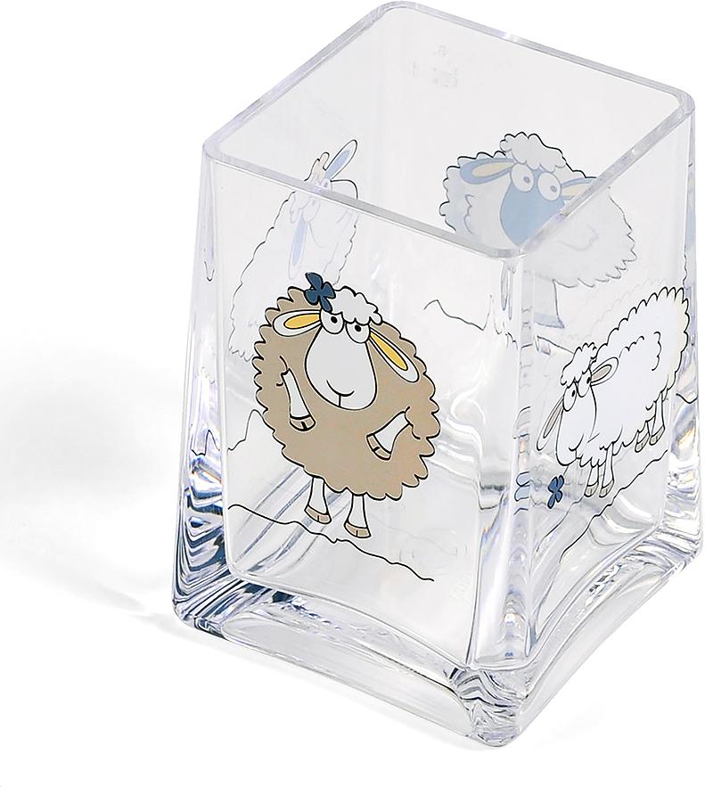 Стакан для ванной комнаты Tatkraft Funny Sheep, высота 10 см стакан для ванной комнаты tatkraft diamond white цвет белый