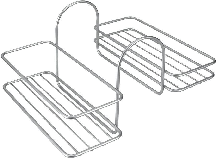 Полка навесная Metaltex Reflex для ванны, 25 см х 30 см х 18 см40.42.06Навесная двухсторонняя полка Metaltex Reflex, выполненная из стали c уникальным политермическим покрытием Polytherm, предназначена для ванны. Покрытие Polytherm значительно продлевает срок службы изделий, это покрытие ударопрочное, на нем не образуются царапины и ржавчина. Навеснаяполка Metaltex Reflex сэкономит место в вашей ванной комнате. Она пригодится для хранения различных принадлежностей, которые всегда будут под рукой.