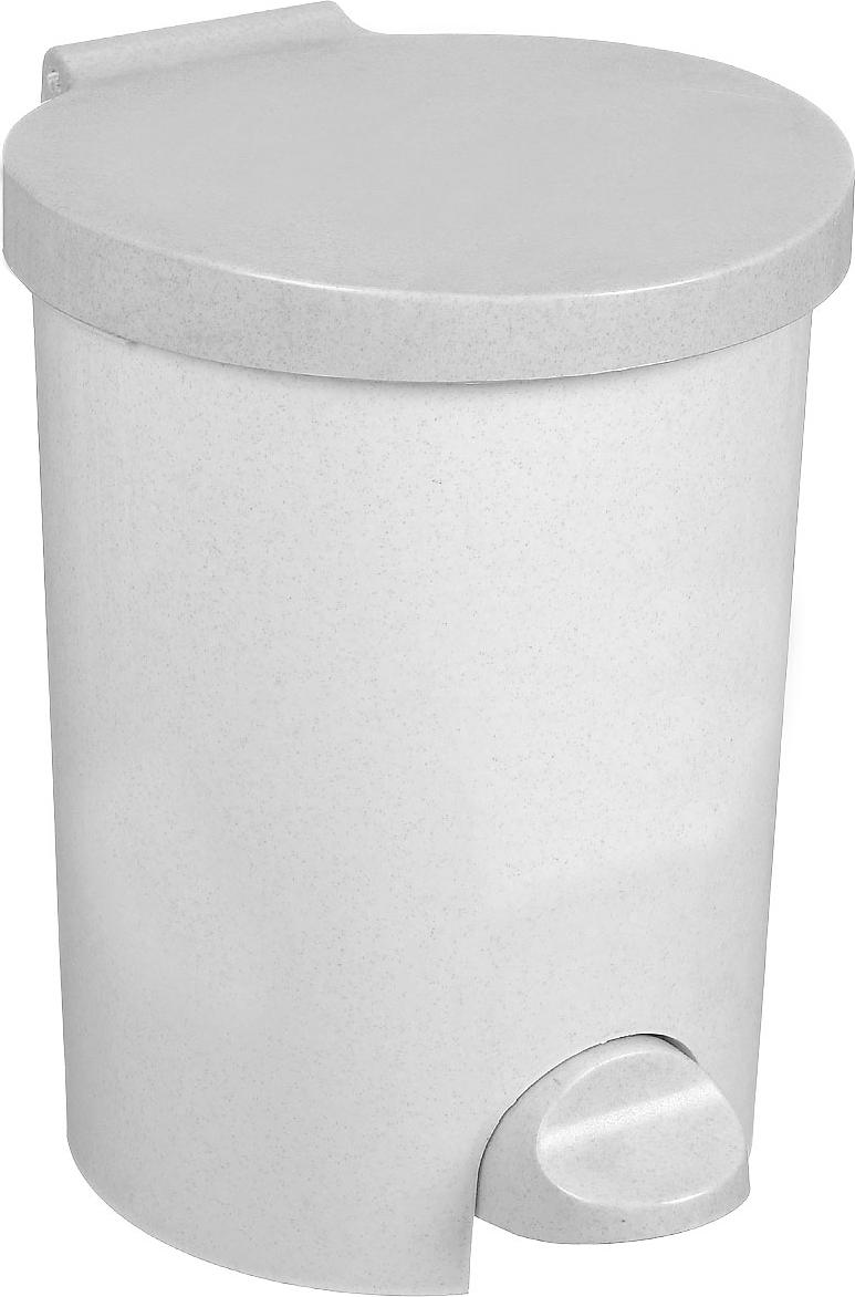 """Контейнер для мусора """"Curver"""" изготовлен из высококачественного пластика. Контейнер оснащен педалью, с помощью которой можно открыть крышку. Закрывается крышка бесшумно, плотно прилегает, предотвращая распространение запаха. Бороться с мелким мусором станет легко. Внутри ведро с ручкой, которое при необходимости можно достать из контейнера. Благодаря лаконичному дизайну такой контейнер идеально впишется в интерьер и дома, и офиса."""
