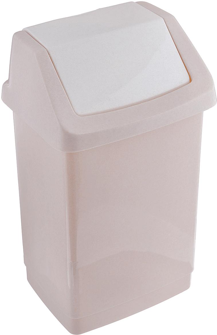 """Контейнер для мусора Curver """"Клик-ит"""" изготовлен из прочного пластика. Контейнер снабжен удобной съемной крышкой с подвижной перегородкой. Благодаря лаконичному дизайну, такой контейнер идеально впишется в интерьер и дома, и офиса."""