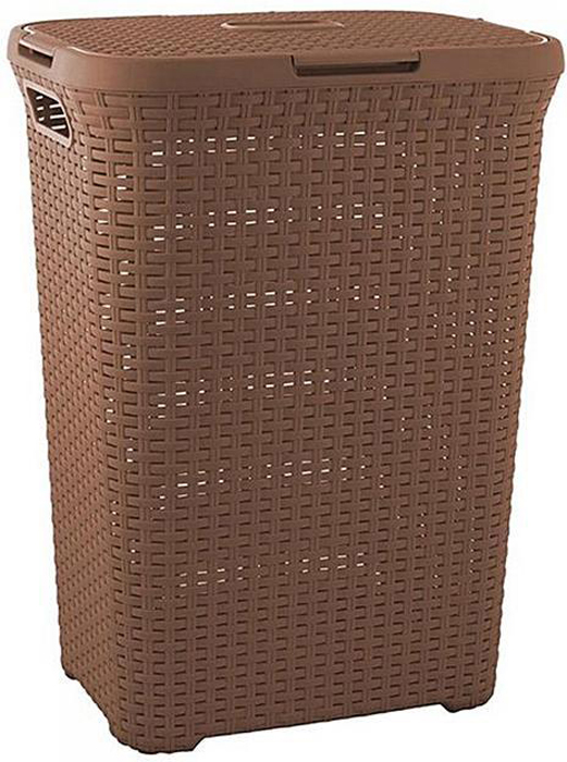 Корзина для белья РАТТАН, цвет: коричневый, 60 л корзина для белья curver natural style 40 л коричневый