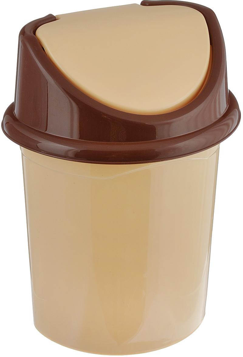 """Контейнер для мусора """"Violet"""" изготовлен из прочного пластика и снабжен удобной съемной  крышкой с подвижной перегородкой. В нем удобно хранить мелкий мусор. Благодаря лаконичному дизайну такой  контейнер идеально впишется в интерьер и дома, и офиса. Размер изделия: 16 см x 20 см x 27 см."""
