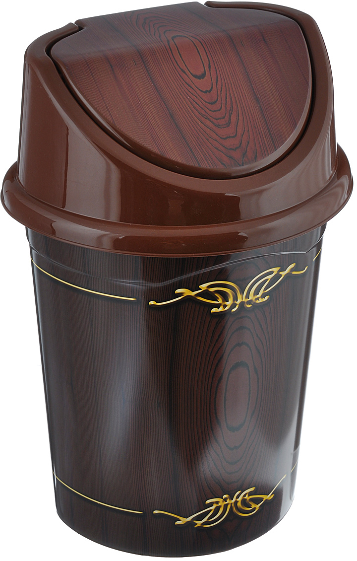 """Контейнер для мусора Violet """"Дерево"""" изготовлен из прочного пластика. Контейнер снабжен удобной съемной крышкой с подвижной перегородкой. В нем удобно хранить мелкий мусор. Благодаря лаконичному дизайну такой контейнер идеально впишется в интерьер и дома, и офиса.Размер изделия: 16 см x 20 см x 27 см."""