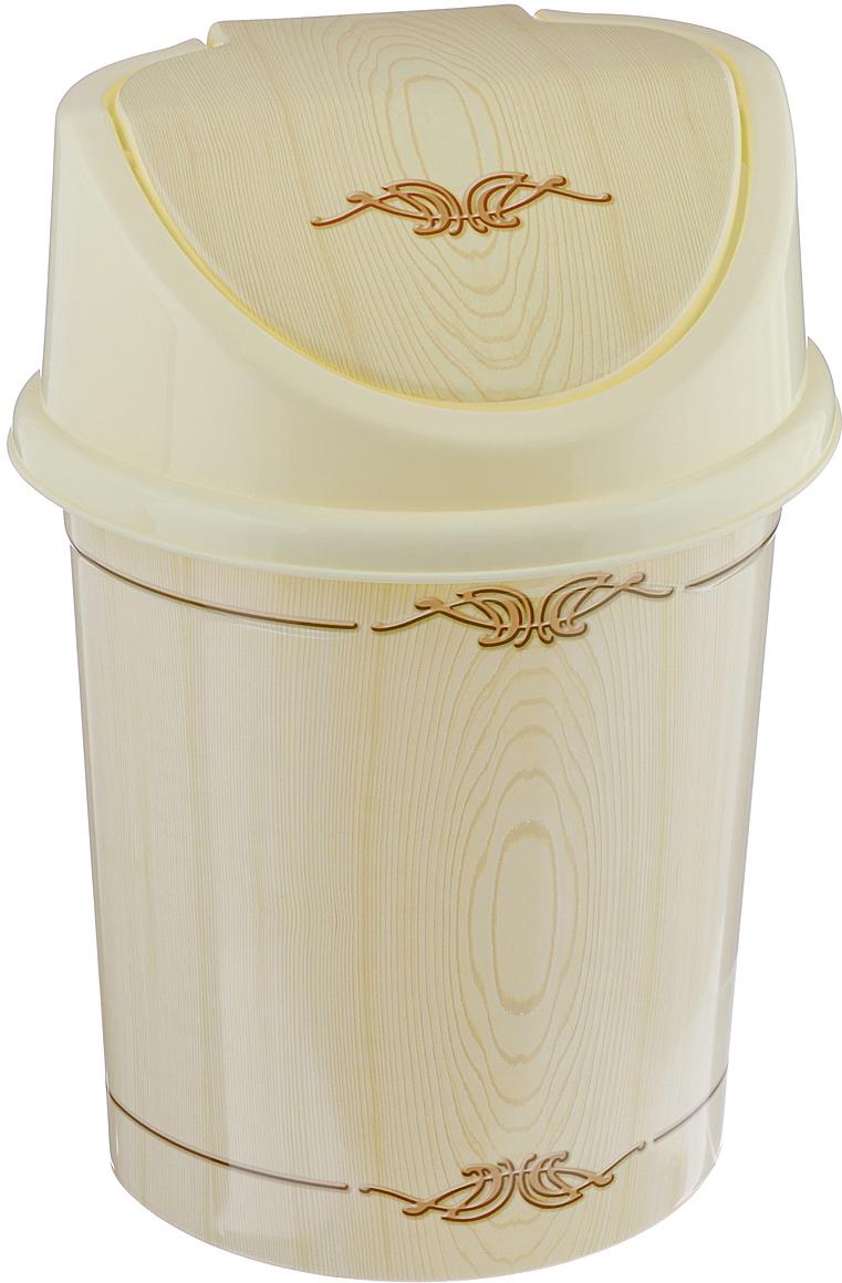 """Контейнер для мусора Violet """"Беленый дуб"""" изготовлен из прочного пластика. Контейнер снабжен удобной съемной крышкой с подвижной перегородкой. В нем удобно хранить мелкий мусор. Благодаря лаконичному дизайну такой контейнер идеально впишется в интерьер и дома, и офиса.Размер изделия: 16 см x 20 см x 27 см."""