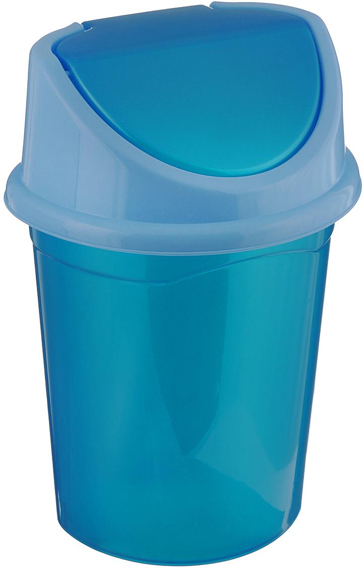 """Контейнер для мусора """"Violet"""" изготовлен из прочного пластика. Контейнер снабжен удобной съемной крышкой с подвижной перегородкой. В нем удобно хранить мелкий мусор. Благодаря лаконичному дизайну такой контейнер идеально впишется в интерьер и дома, и офиса.Размер изделия: 29 см х 31,5 см х 45 см."""