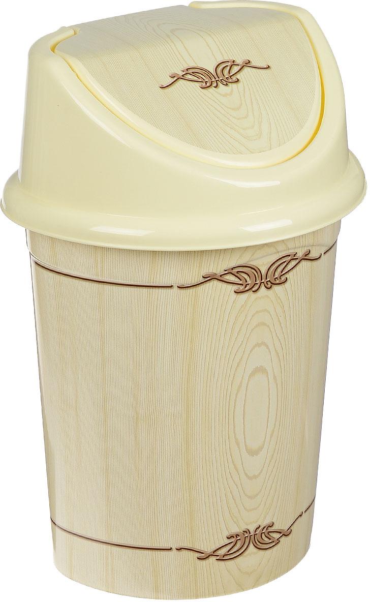 """Контейнер для мусора Violet """"Беленый дуб"""" изготовлен из прочного пластика. Контейнер снабжен удобной съемной крышкой с подвижной перегородкой. В нем удобно хранить мелкий мусор. Благодаря лаконичному дизайну такой контейнер идеально впишется в интерьер и дома, и офиса.Высота контейнера без крышки: 33,5 см."""