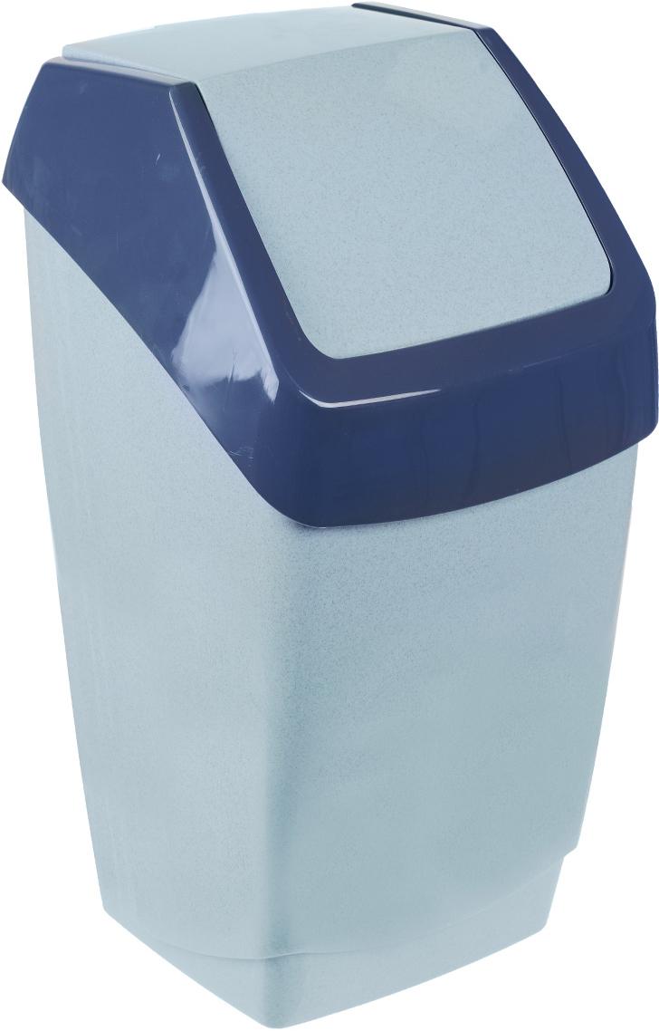 Контейнер для мусора Idea Хапс, цвет: голубой мрамор, 25 лМ 2472Контейнер для мусора Idea Хапс изготовлен из прочного полипропилена (пластика). Контейнер снабжен удобной съемной крышкой с подвижной перегородкой. Благодаря лаконичному дизайну такой контейнер идеально впишется в интерьер и дома, и офиса.
