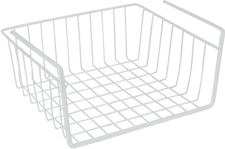 """Подвесная полка Metaltex """"Babatex"""", изготовленная из стали с полимерным покрытием,  сэкономит место на вашей кухне или в ванной. Современный дизайн делает ее не только  практичным, но и стильным домашним аксессуаром. Полка надежно крепится к поверхности  при помощи двух держателей. Такая полка пригодится для хранения различных кухонных  или других принадлежностей, которые всегда будут под рукой и увеличит полезную  площадь для хранения различных предметов."""