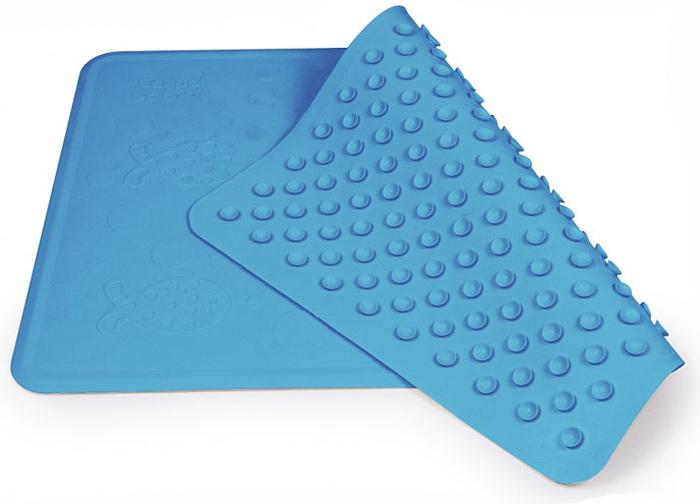 Нескользящий коврик для ванны Canpol Babies, цвет: синий, 34 см х 55 см9/051Нескользящий коврик для ванны Canpol Babies изготовлен из высококачественной мягкой резины и подходит для большинства детских ванночек, ванн и душевых кабин. Коврик крепится на дно ванны при помощи присосок, и предотвращает прямой контакт тела ребенка со скользким дном ванны.