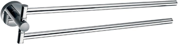 Полотенцедержатель двойной Gro Welle RubeRBE541Двойной держатель Gro Welle Rube выполнен из высококачественной латуни и крепится при помощи специальных креплений (входят в комплект). Хромоникелевое покрытие Crystallight придает изделию яркий металлический блеск и эстетичный внешний вид. Имеет водоотталкивающие свойства, благодаря которым защищает изделие. Устойчив к кислотным и щелочным чистящим средствам.