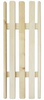 Решетка на ванну деревянная, 26х70Б146Деревянная решетка позволит принять ванну в более комфортных условиях. Решетка универсальна: можно положить ее на края или на дно ванны. Выполненная из натуральных деревянных брусков, решетка будет также оказывать полезный массажный эффект. Характеристики:Размер: 70 см х 26 см х 4 см. Материал: дерево. Производитель: Россия. Артикул: Б146.