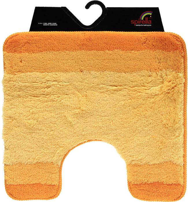 Коврик Balance, цвет: оранжевый, 55 х 55 см1009223Коврик для ванной комнаты Balance выполнен из акрила высокого качества. Прорезиненная основа коврика позволяет использовать его во влажных помещениях, предотвращает скольжение коврика по гладкой поверхности, а также обеспечивает надежную фиксацию ворса. Коврик добавит тепла и уюта в ваш дом. Хорошо переносит машинную стирку и отжим в центрифугах, а также подходит для полов с подогревом. Характеристики:Материал: 100% акрил. Размер:55 см х 55 см. Производитель: Швейцария. Изготовитель: Китай. Артикул: 1009223.