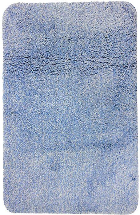Коврик для ванной комнаты Gobi, цвет: светло-голубой, 60 х 90 см