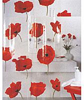 """Прозрачная штора для ванной комнаты """"Poppy cinnabar"""" с изображением красных маков изготовлена из полихлорвинила. В верхней кромке шторы сделаны отверстия для колец. Штору можно стирать в стиральной машине при температуре не выше 40 градусов.   Шторы от компании  """"Spirella"""" отличает яркий, красочный дизайн рисунков и высокое качество (гарантия на изделие 3 года). Сделайте вашу ванную комнату еще красивее! Характеристики: Материал: полихлорвинил. Размер шторы: 180 см х 200 см. Артикул: 1042344. Изготовитель: Швейцария."""