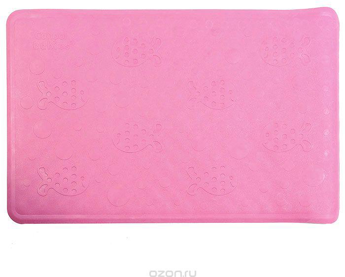 Canpol Babies Нескользящий коврик для ванны цвет розовый 34 см х 55 см
