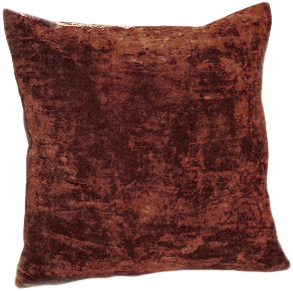 Подушка декоративная KauffOrt Бархат, цвет: бордово-коричневый, 40 x 40 см3121039635Декоративная подушка Бархат прекрасно дополнит интерьер спальни или гостиной. Бархатистый на ощупь чехол подушки выполнен из 49% вискозы, 42% хлопка и 9% полиэстера. Внутри находится мягкий наполнитель. Чехол легко снимается благодаря потайной молнии.