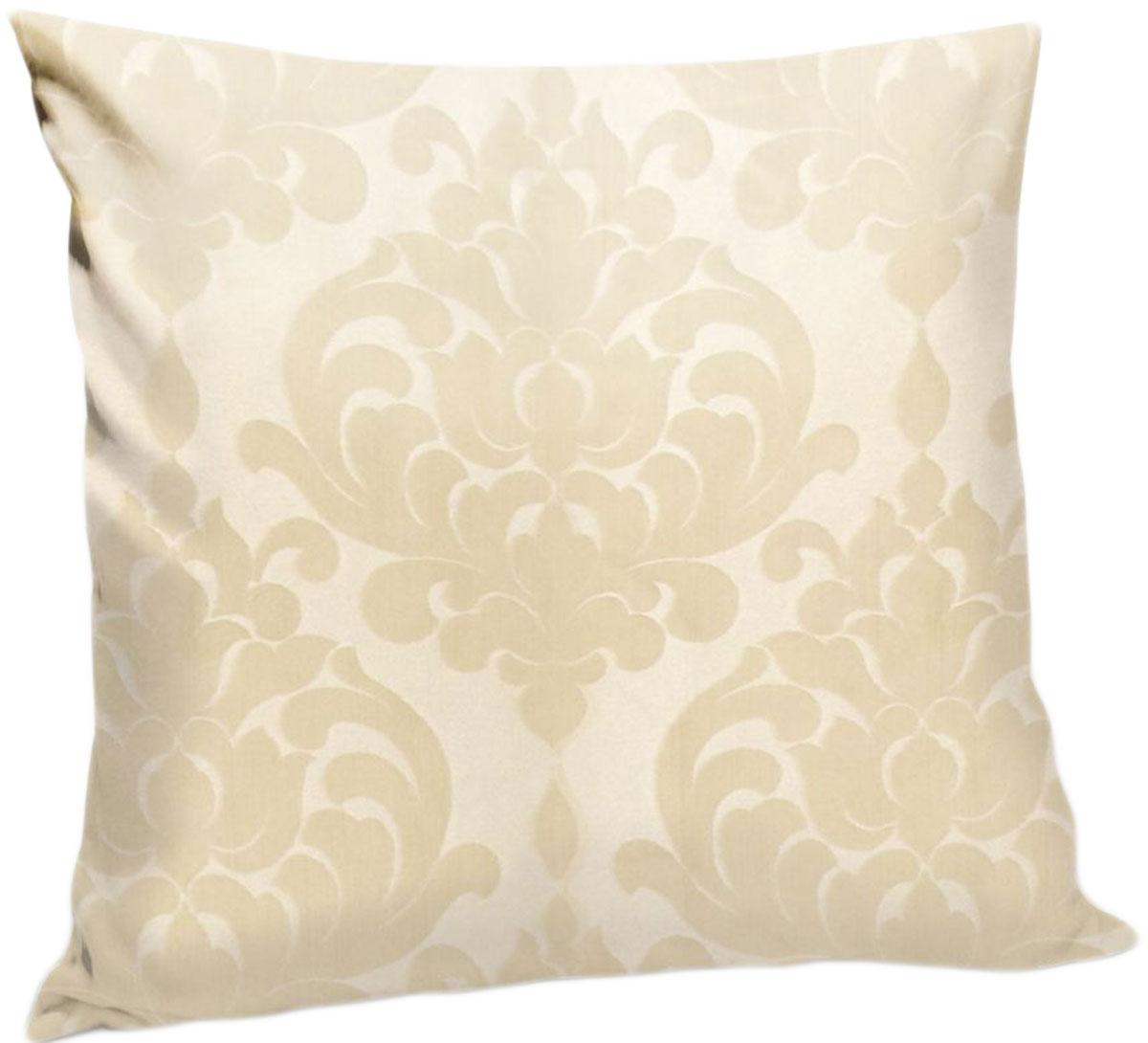 Подушка декоративная KauffOrt Бордо, цвет: светло-бежевый, 40 x 40 см штора легкая kauffort barolo
