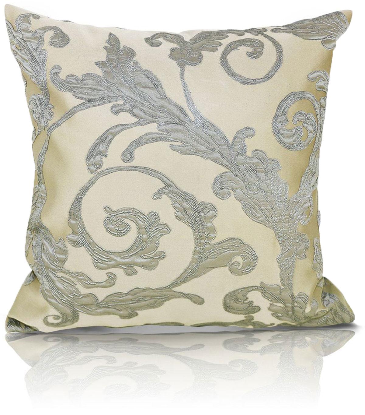 Подушка декоративная KauffOrt Виона, цвет: бежевый, 40 x 40 см штора легкая kauffort barolo