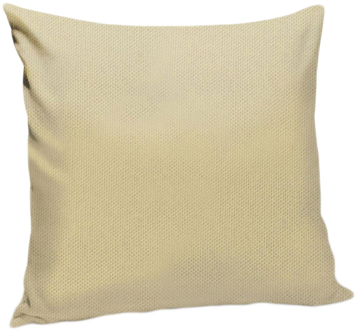 Подушка декоративная KauffOrt Комо, цвет: бежевый, 40 x 40 см3121540120Декоративная подушка Комо прекрасно дополнит интерьер спальни или гостиной. Чехолподушки выполнен из лонеты. Внутри находится мягкий наполнитель. Чехол легко снимаетсяблагодаря потайной молнии.